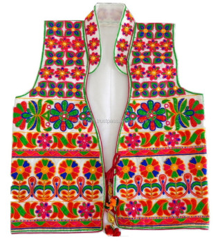 Gujarati Satin embroidery ladies Vests-Waistcoats-jacket-Navratri Special jacket-Indian traditional embroidered jacket