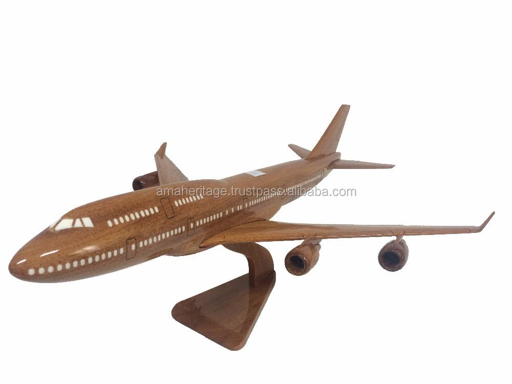 Wood Handicraft Model Aircraft _boeing 747