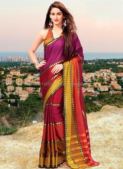 7d433376d7 Saree indian - Kolkata cotton saree - Border design saree - Formal saree  blouse designs -