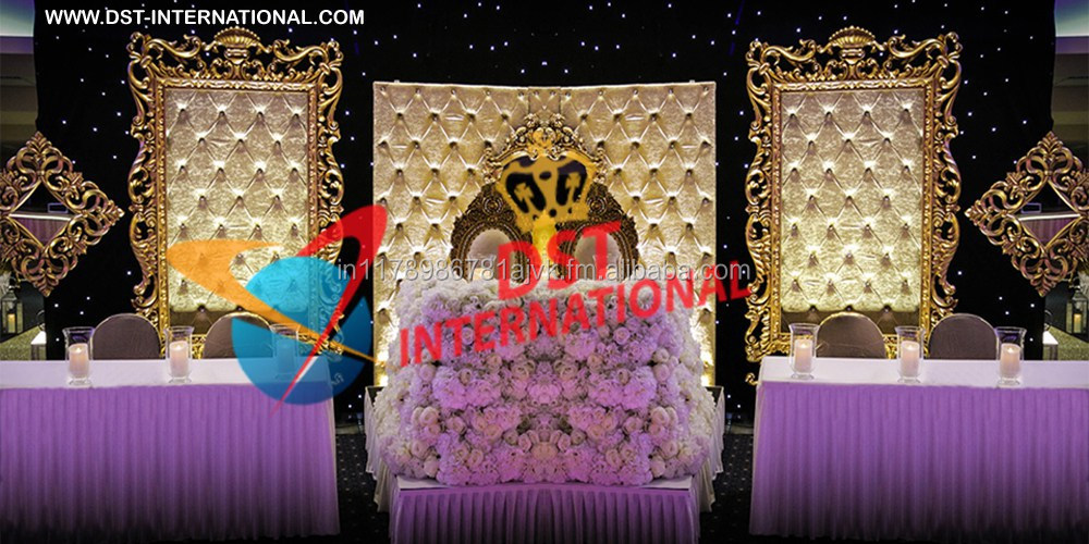 Fantastic Wedding Tufted Frames Stage/ English Wedding Carved Frames Stage/ Wedding Frames Stage Backdrop Decoration