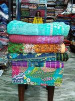 Fine Kantha Vintage Quilt/Indian Style Bedding Sets/Fantasy Bedding Set/100-Percent Cotton Quilt 5 - Pcs. Set