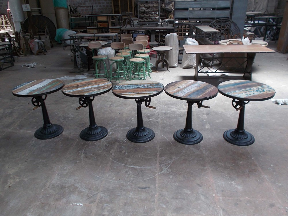 Industrial Antique Pub Tables Cast Iron Base Cafe Furniture  Buy