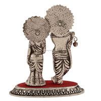 Indian White Metal Lord Radha Krishna Statue For Wedding Gifts ...