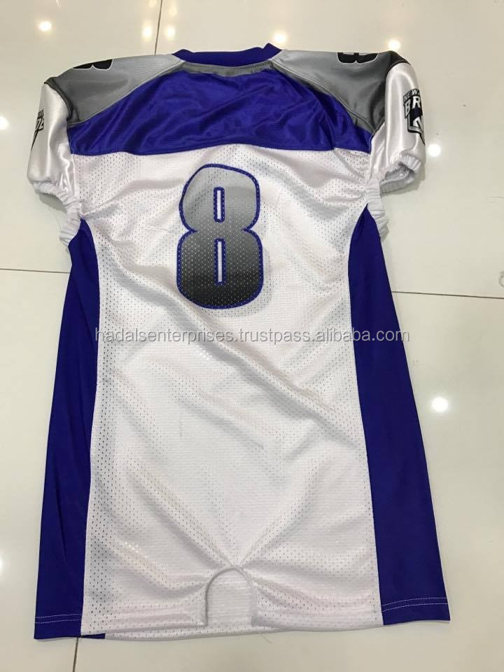 Fully Customized American Football Jersey / American Football Jerseys Sublimated / Lycra American Football Jerseys
