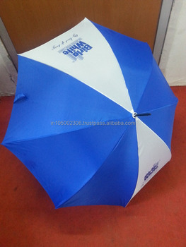 White and Blue Umbrella For Marketing Activity