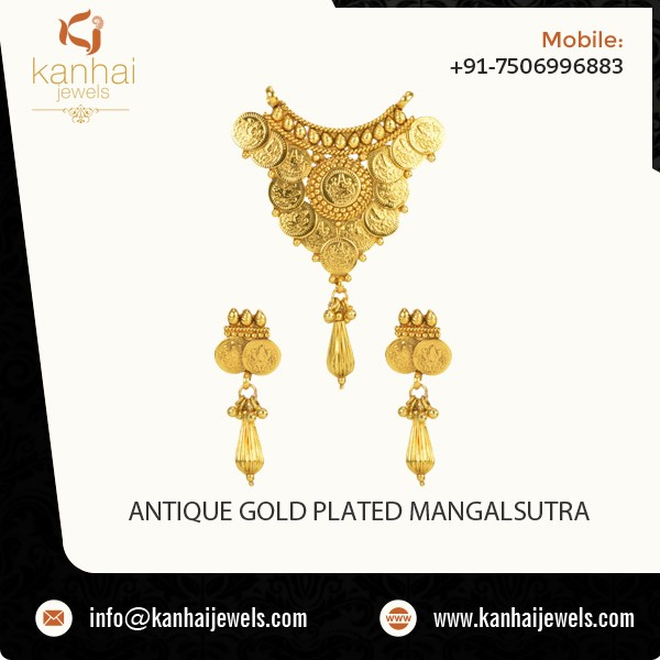 Top Selling Designer Antique Gold Plated Indian Mangalsutra