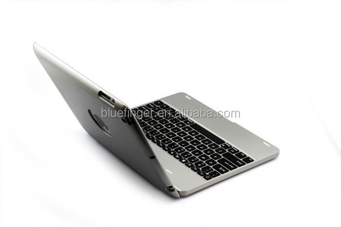 Power bank drahtlose Bluetooth tastatur fall für iPad234 mit 4000mah batterie, rechargable folio calmshell Bluetooth tastatur