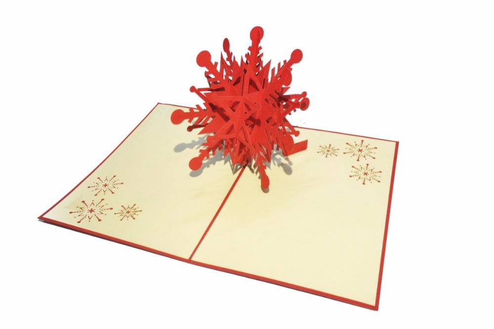 la cada de popup tarjetas de navidad del copo de nievemc
