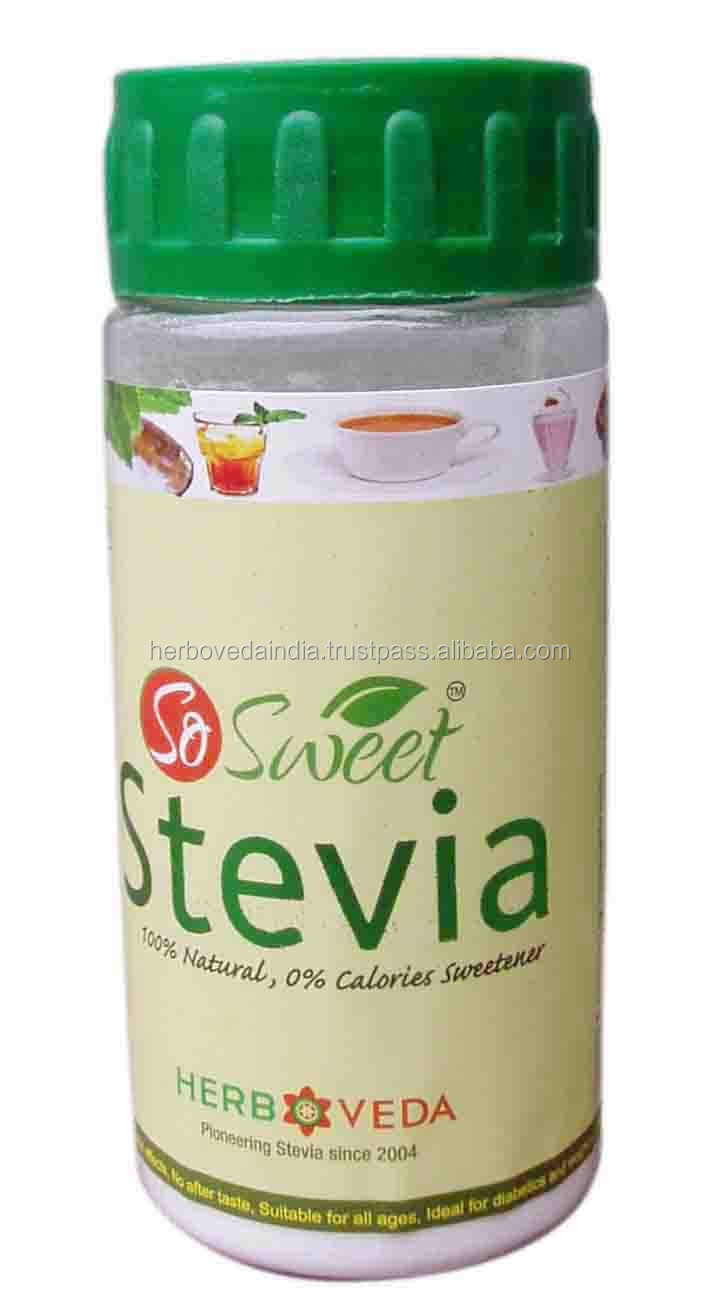 Stevia Endulzante Natural tabletas, Sugarfree tablet edulcorante, Tabletas de Stevia en el dispensador con el paquete de ampolla