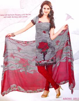 2ae127bf02 Wholesale Pakistani Salwar Kameez-2015 Indian Crepe Printed Salwar Kameez  Material-Punjabi Crepe Material