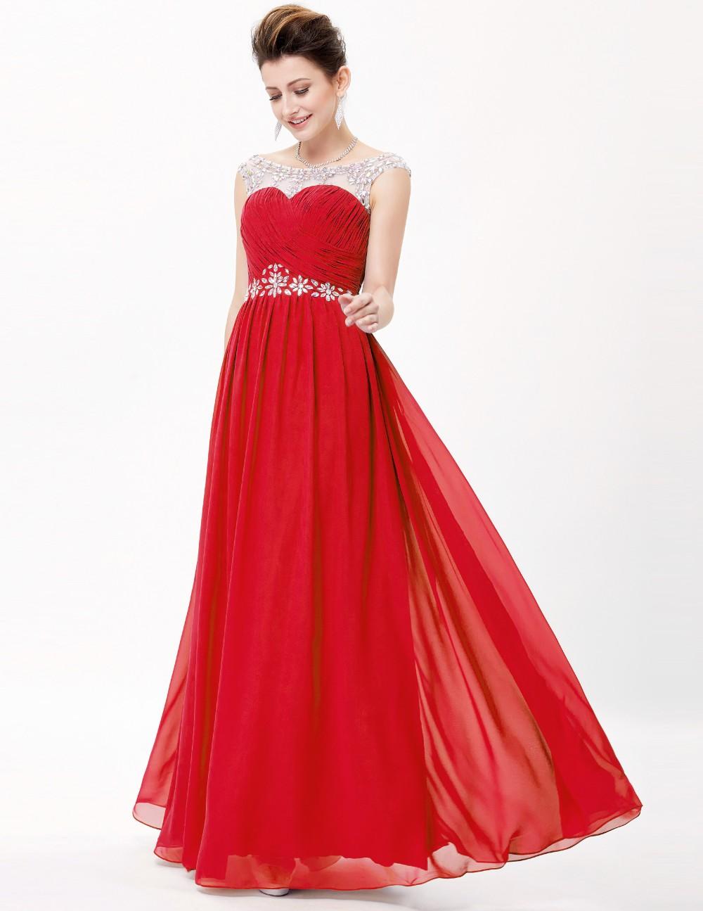 Grace Karin Fashionable Backless Red Long Chiffon Evening Prom ...