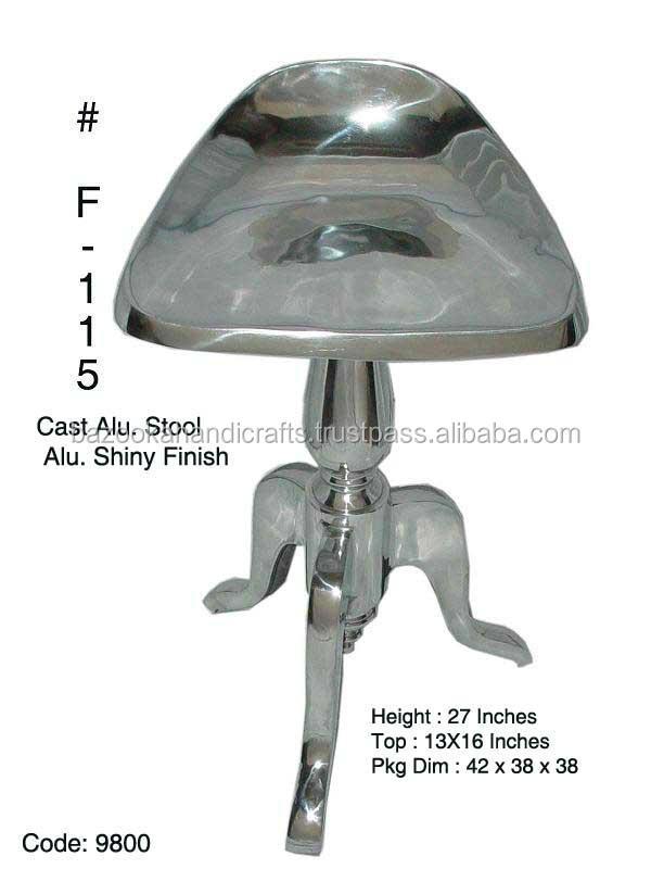 Aluminium Stool,Vintage Aluminium Stool,Aluminium Cast Stool