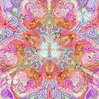 Indien Mandala Papillon Imprime Belle Mandala Yoga Tapis Tapisserie