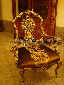 Luxury Gold Royal Wedding Chair Bride And Groom Wedding Hall Dining Chair For