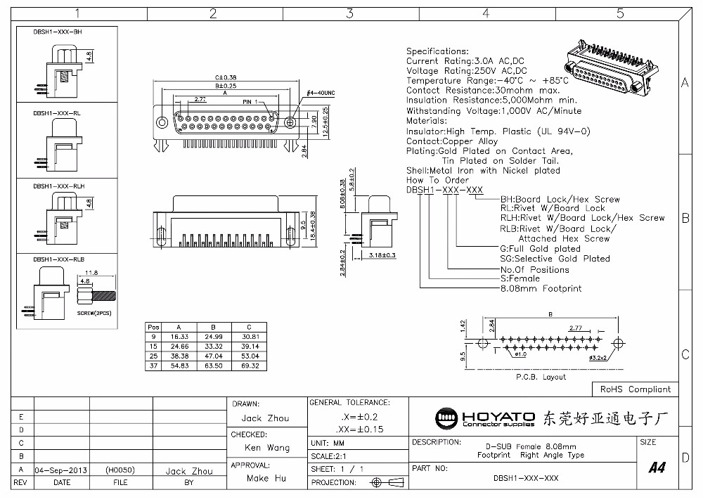 25 Pin D Sub Mini Connector 25 Pin D-sub Connector D-sub ...