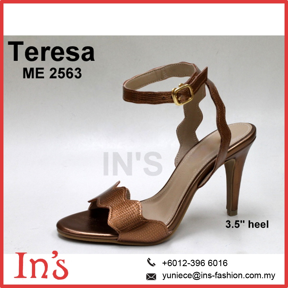 Malaysia Bridal Lady High Heels Shoes in Bronze Color