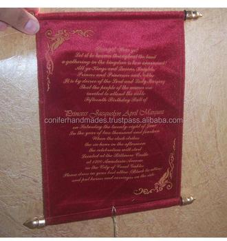 velvet scroll invites suitable for bar mitzvah celebrations also