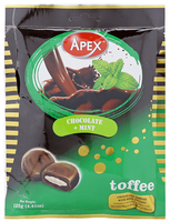 APEX CHOCOLATE TOFFEE WITH MINT FILLING BAG 125G