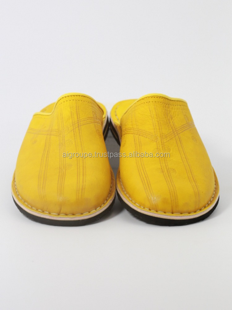 best selling yellow babouche slippers for men, stylish and comfortable