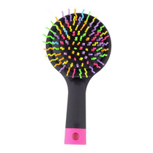 Magic Hair Comb Brush Rainbow Volume Styling Tools Anti Tangle Anti-static Head Massager Hairbrush With Mirror