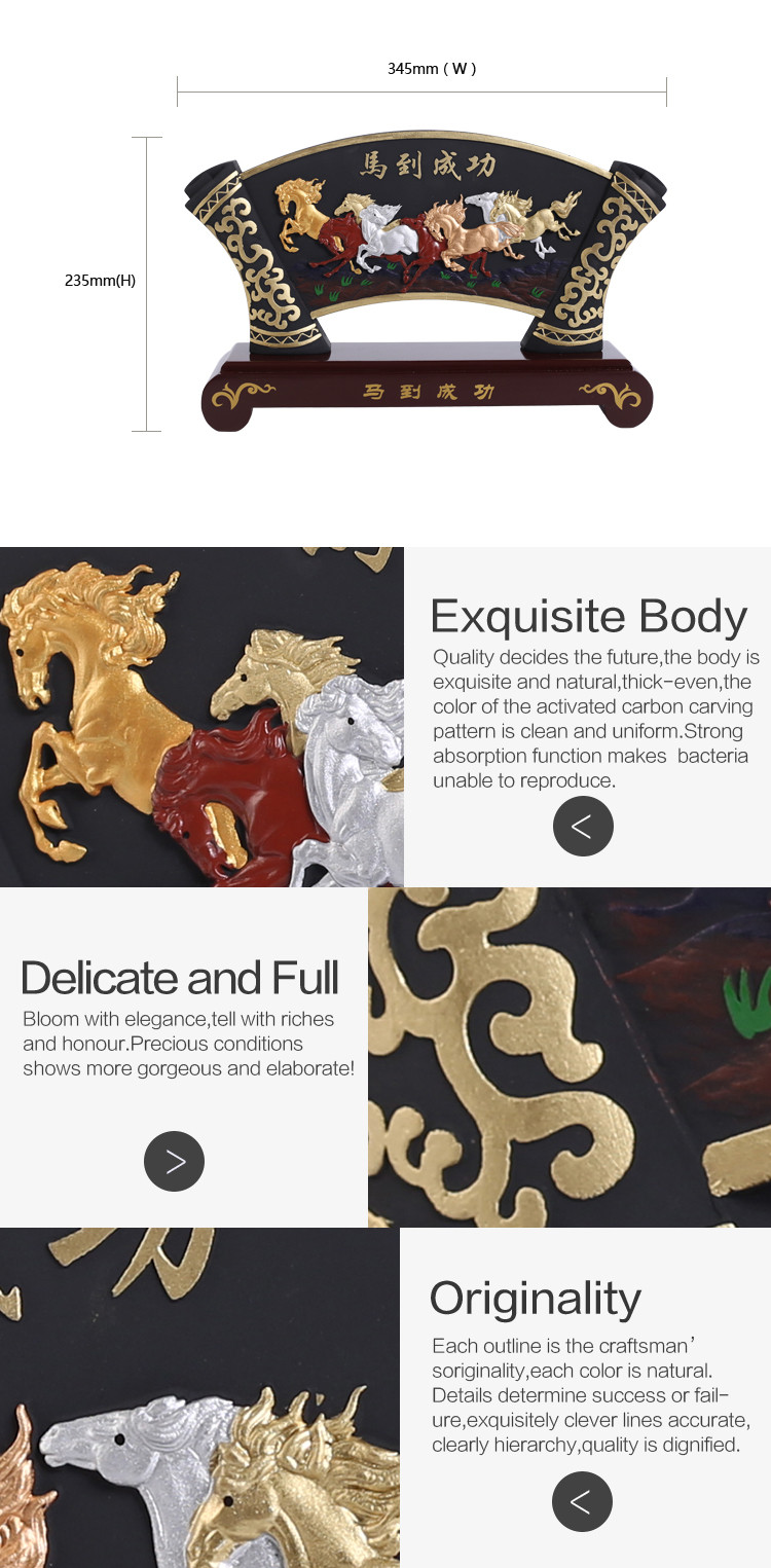 Wholesale Chinese Traditional Fan Shaped Wooden Craft Horse ...