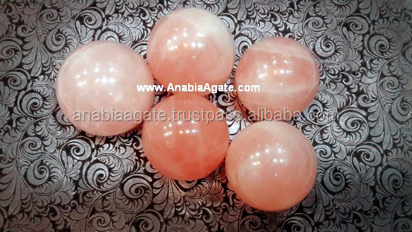 Pink Rose Quartz Ball and Gemstone Sphere