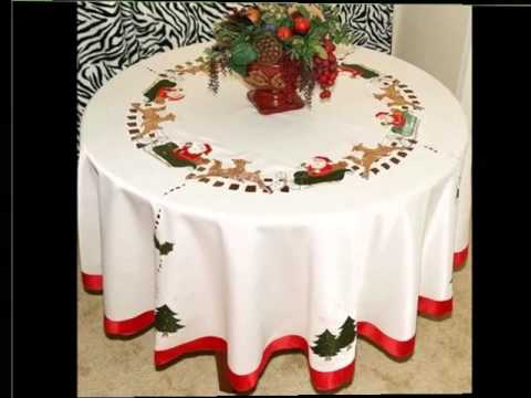 Christmas Table Cloths | Diy Decoration Picture Ideas For Colorful Christmas