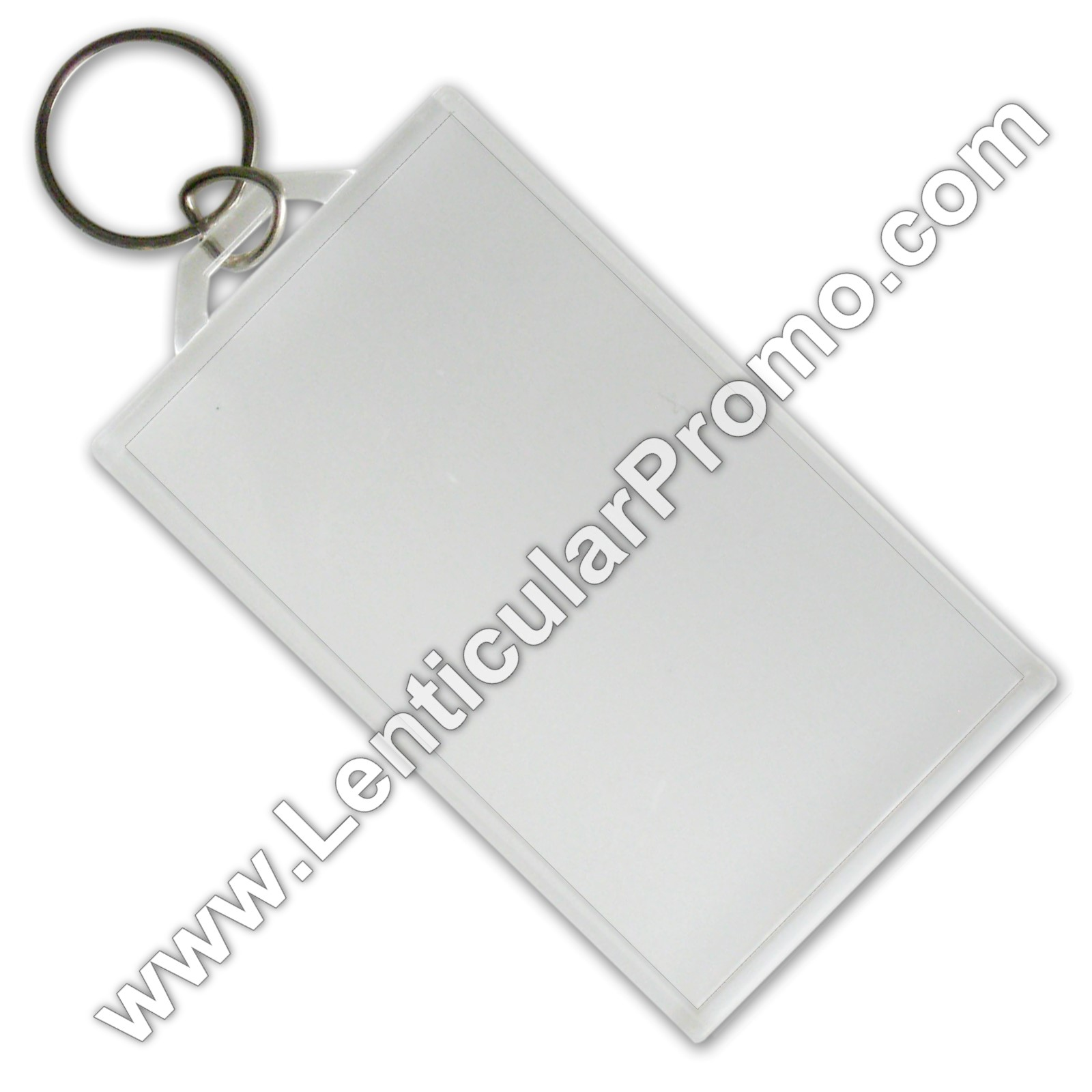 acrylic key chain snap in business card 2 x 3 5 inches clear