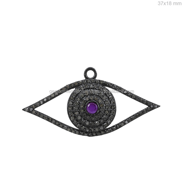 Promocin blue eye colgante compras online de blue eye colgante 925 sterling silver gemstone jewelry diamond blue sapphire evil eye pendant aloadofball Images