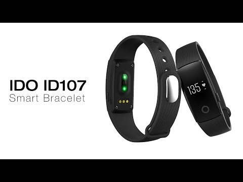 IDO ID107 Smart Bracelet Heart Rate Call Reminder Pedometer Remote Camera Anti Lost
