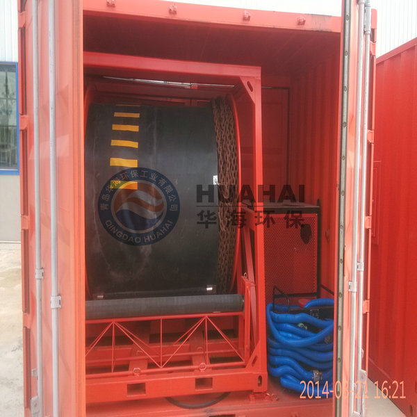 Inflatable Rubber Oil Boom/oil Spill Boom