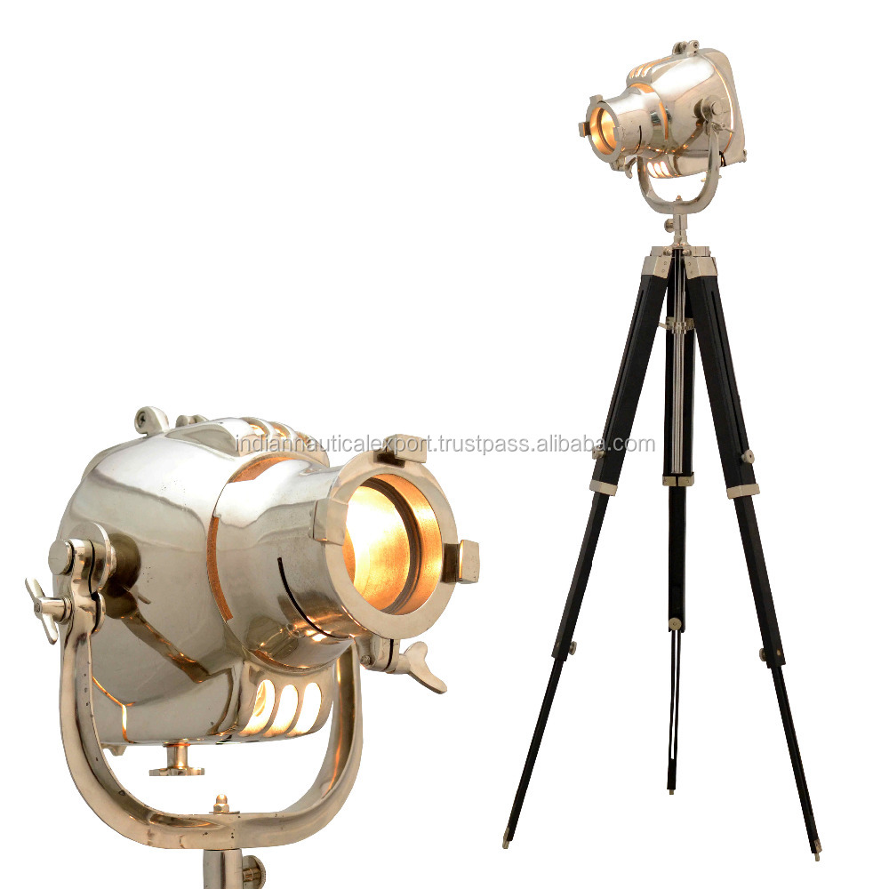Retro Industrial DESIGNER Photo SPOT LIGHT Tripod Floor LAMP /Decor Antique