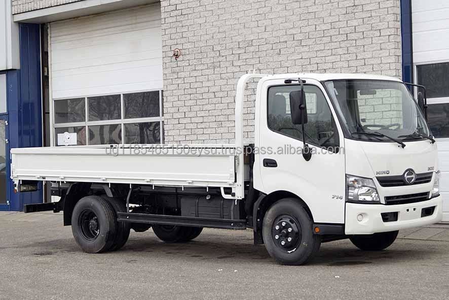 Used LHD Hino 300-714 Flatbody truck 2012