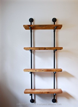 tubula o industrial estantes modulares com madeira recuperada estante industrial industrial. Black Bedroom Furniture Sets. Home Design Ideas