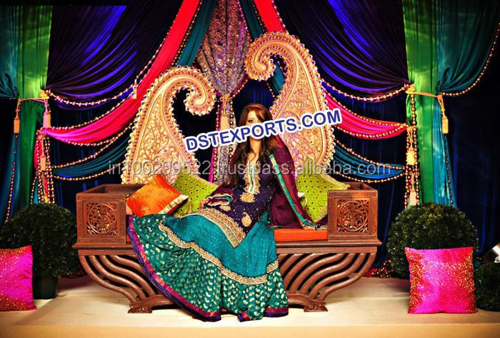 Beautiful New Muslim Wedding Stage Decoration/indian Wedding ...