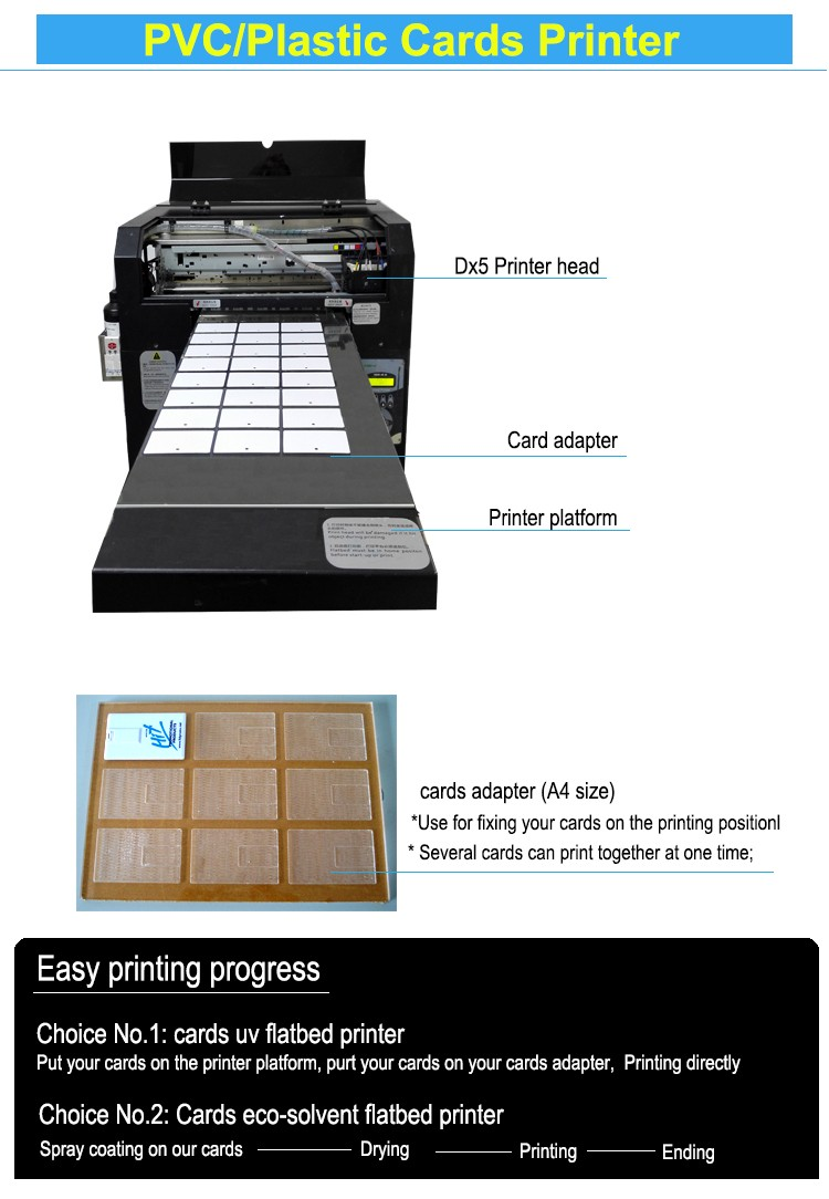 Transparent business card printing machine With UV white ink, View ...