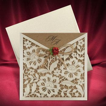 Unquie Wedding Invitations.Rustic Wedding Invitation Card Unique Wedding Invites Buy Wedding Invitation Craft Paper Rustic Wedding Invitations Laser Cut Wedding Invitation