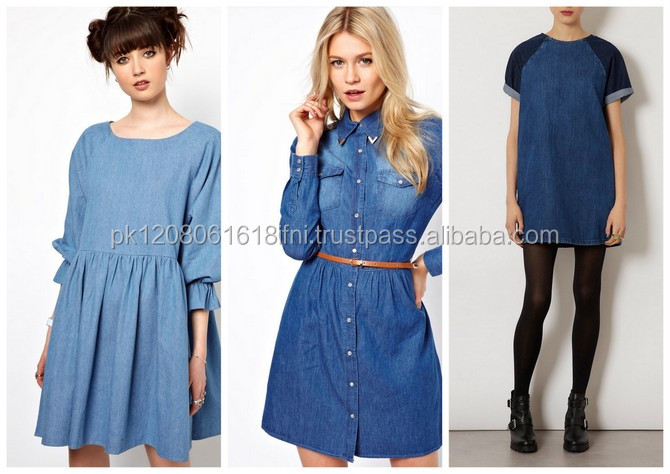Online Shopping women dress for wholesale , boat neck sexy summer jeans dress for girl