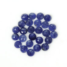 17.00Ct 100% Natural Madagascar Blue Sapphire Round Rose Cut Slice 26Pcs Lot 5mm