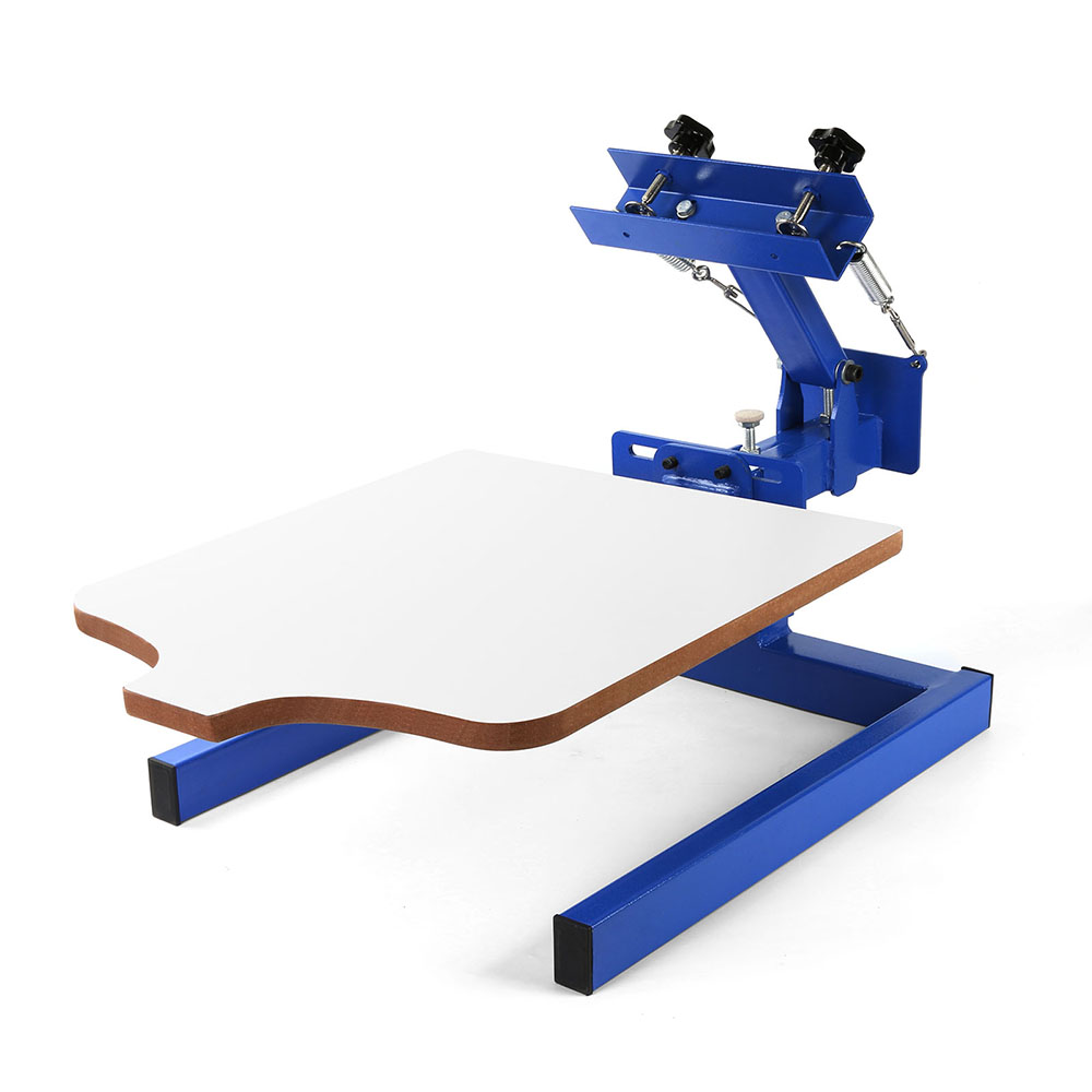 Vevor easy manual t shirt rotary screen printing machine for Single shirt screen printing