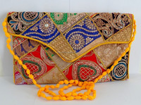 Wholesale Patch Work Clutch Purse-Bridal Clutch Purse-Indian Floral Embroidered Hand clutch online buy wholesale