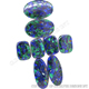 Wholesale Azurite Malachite stones,fashion earring jewelry making gemstones,brand name gemstones