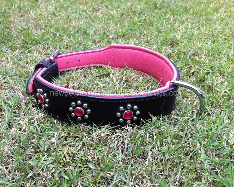 Professional custom Design big dog collar leather