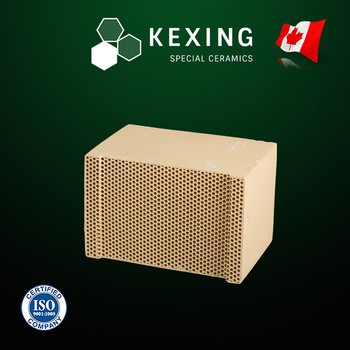 Compound of Cordierite and Mullite Monolith Honeycomb ceramic substrate for RTO RCO