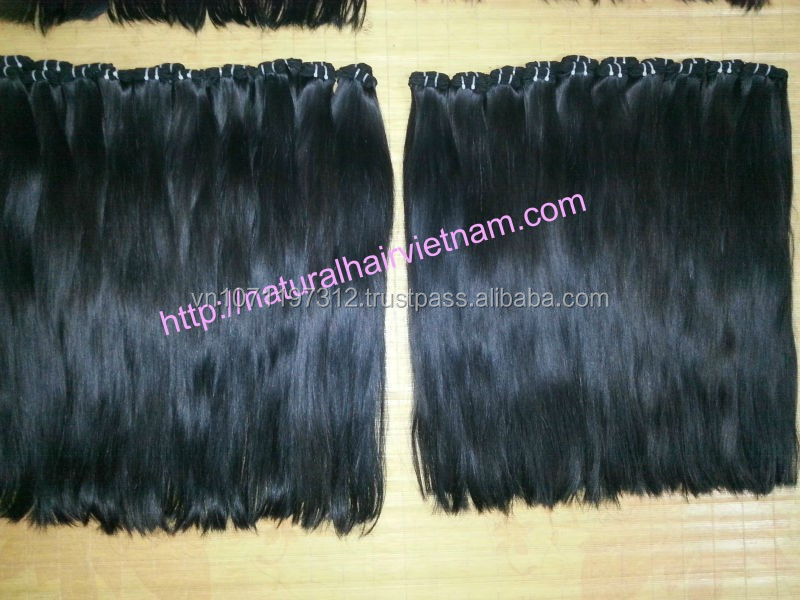 100 human hair, brazilian human hair sew in weave, no-processed and no shedding Natural
