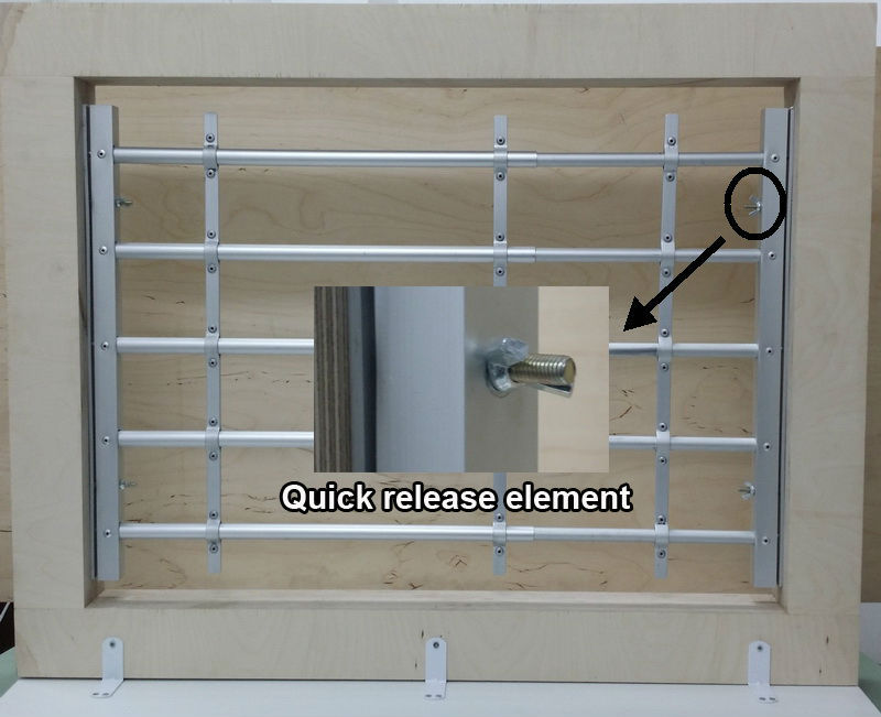 Qiuck Release Aluminum Window Guard 4 Bars Kids Saver Diy Quick And Easy Install Buy