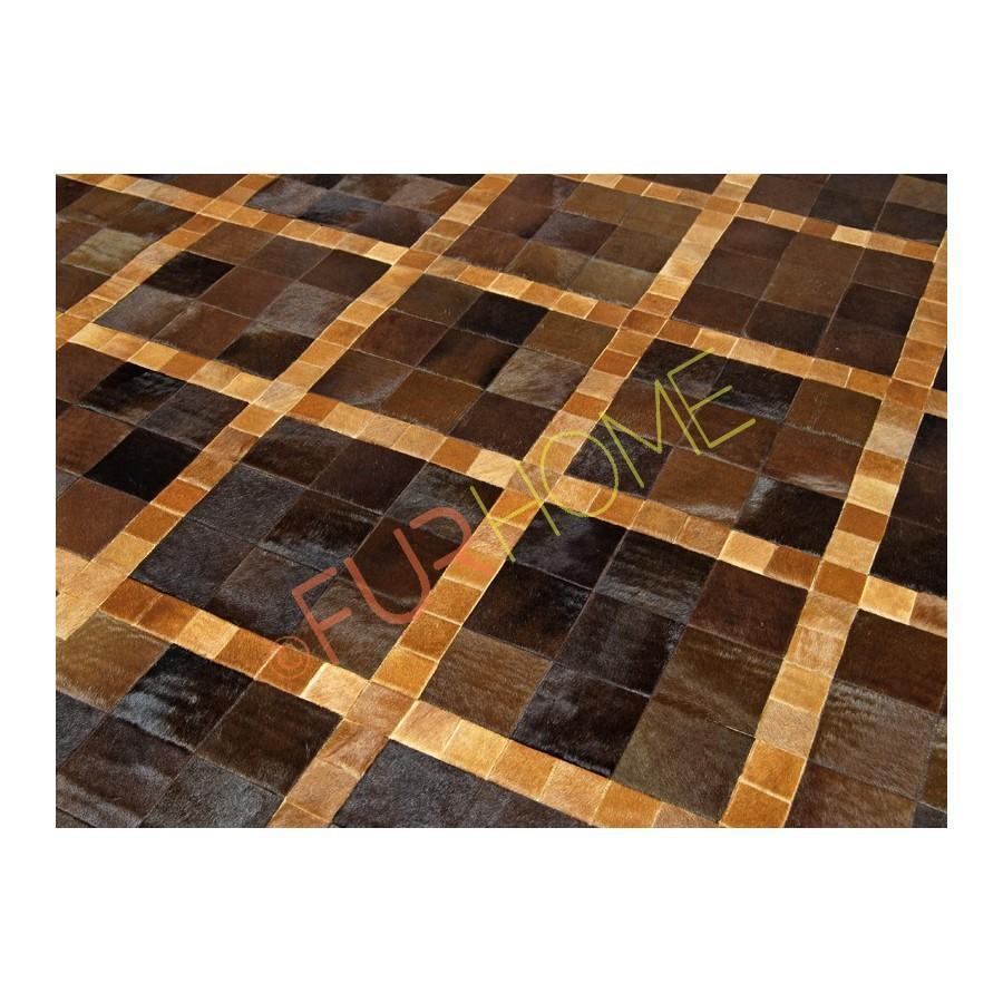 Patchwork Kuhfell Teppich Leder Teppich Echt K 1347 Teppich Produkt