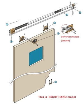 Attirant Automatic Sliding Barn Door Closer Waterproof Model Available Made In Japan