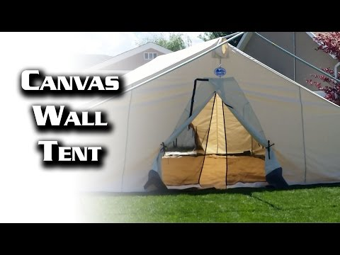 Get Quotations 16x20 Canvas Wall Tent From Davis Amp