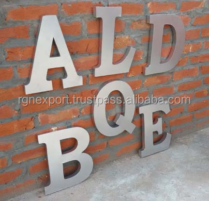 Metal Wall Alphabet